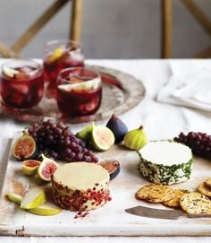 Making vegan cheese from scratch can seem like a daunting project, but it really isn't. You can create a fabulous holiday cheese plate by adding fresh and dried figs, grapes, pears, and apples, an assortment of nuts, and your favorite crackers and bread to these splendid cheeses.