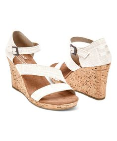 8da36e5f9c9 Look at this TOMS Natural   Cork Clarissa Wedge on today!