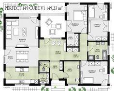 ᐅ - pur - Erdwärme - Zukunft heute! - www. Contemporary House Plans, Modern House Plans, House Floor Plans, Stommel Haus, Companies House, Geothermal Energy, Tiny House Cabin, House Blueprints, Architecture Plan