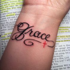 grace tattoos grace and mercy tattoo christian tattoos amazing grace - Today Pin Bible Tattoos, Wrist Tattoos, Body Art Tattoos, New Tattoos, Cool Tattoos, Tatoos, Biblical Tattoos, Tattoo Quotes, Verse Tattoos