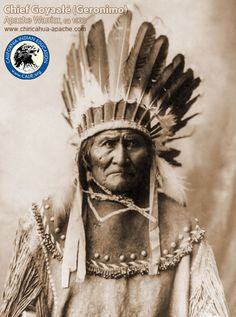 Famous Indian Chiefs | GERONIMO FAMOUS INDIAN WARRIOR Quotes Terrorism Poster 1492
