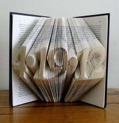 Folded Book Art - Paper Anniversary - Save the Date - First 1st Wedding Anniversary - 5 Digits -  Unique Birthday Gift - Wedding Date