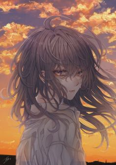 Manga Anime Girl, Cool Anime Girl, Cute Anime Pics, Kawaii Anime Girl, Anime Flower, Sky Anime, Real Anime, Digital Art Girl, Anime Fantasy