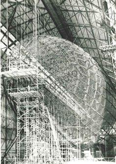 Airship under construction, Germany