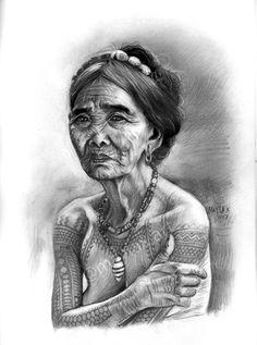 My Apo Whang Od Pencil Portrait  #apowhangod #ApoWhangOd #PinoyCulture #Buscalan #Ink #TribalTattoo #ArtPH #Tattoo #PencilPortrait