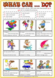 What can they do? ESL Printable Exercise Worksheet