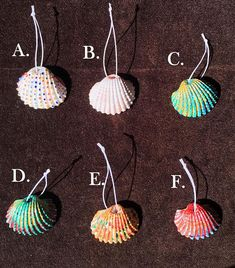 Small Hand Painted Sea Shell Focal Beads Pendants
