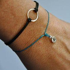 Cutest hand-stamped initial bracelet | Vivien Frank Designs