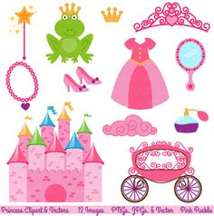Fairytale Clipart and Vectors by PinkPueblo on Creative Market