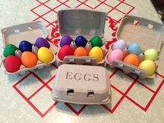 Wooden Rainbow EGGS (ONLY) -  Sorting, Counting, Pretend Play, Play Food- Waldorf, Montessori Toddler Toy