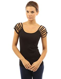 PattyBoutik Women's Cotton Scoop Neck Cut Out Short Sleeve Top (Black S) PattyBoutik http://www.amazon.com/dp/B00E38ZNZM/ref=cm_sw_r_pi_dp_2KRHvb11H7K6Z