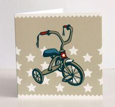 framed??? Boys Vintage Trike Card (blank inside) - hardtofind.