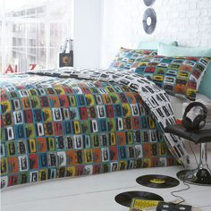 Ben de Lisi Home Blue 'Cassettes' bedding set