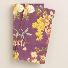 One of my favorite discoveries at WorldMarket.com: Plum Grace Floral Thanksgiving Guest Napkins, 20-Count
