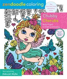 Zendoodle Coloring: Chubby Cherubs : Baby Angels to Color and Display Doodle Coloring, Adult Coloring, Coloring Books, Coloring Pages, Cherub Baby, Whimsical Fashion, Black And White Illustration, Zen Doodle, Electronic Gifts