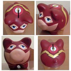 Pig Bank, Cute Piggies, Mario Bros, Diy Painting, Marvel, Hand Painted, Flash, Kiwi, Disney