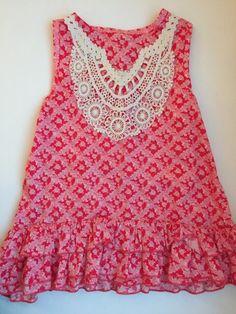 Check out this listing on Kidizen: Crochet Detail Floral Tank via @kidizen #shopkidizen