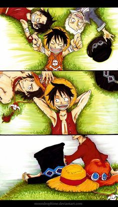 Brothers - Monkey D. Luffy, Portgas D. Ace, and Sabo hats One piece art One Piece Anime, One Piece Comic, One Piece Fanart, One Piece Luffy, Manga Anime, Fanarts Anime, One Piece Pictures, One Piece Images, Image Hilarante