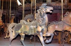 1927-Rock-Springs-WV-D-C-Muller-carousel-horse-Tuttle-photo--- Muller stander. Carousel was sold piecemeal at auction
