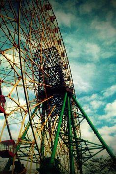 Ferris wheel!     カンランシャ!  タマニ、ノリタイ(^-^)