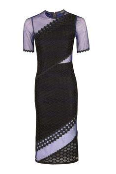 Honeycomb Airtex Midi Dress