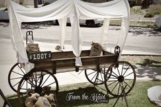 Covered wagon decor from Wild West Cowboy Party at Kara's Party Ideas. See more at karaspartyideas.com!