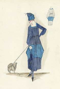 Henri Bendel 1917. I love the pleats, but can you imagine ironing them? Broomstick method?
