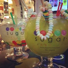 Sugar Factory goblet Drinks