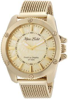 41bf048ceba Marc Ecko Mens E18597G1 The Flash Gold Mesh Gold Dial Watch  gt  gt  gt