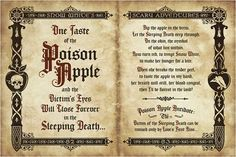 Snow whites poisen apple art work by Jeremy Fulton Halloween Spell Book, Halloween Apothecary, Halloween Potions, Disney Halloween, Fall Halloween, Halloween Crafts, Halloween Decorations, Halloween Forum, Halloween Ideas