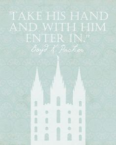 I love the visual this quote provides. I love the feeling of being embraced I feel in the temple.   #LDS #Mormon