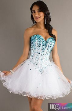 Empire Sweetheart Tulle and Beading Homecoming Dress - HomeComing Dresses - Special Occasion Dresses - Wedding & Events