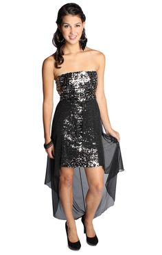 sequin black homecoming dress