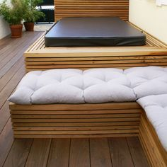 wood bench & spa Outdoor Sectional, Sectional Sofa, Palette, Outdoor Furniture, Outdoor Decor, Bench, Spa, Wood, Design