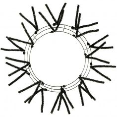 A wire frame with pre-attached black 'Pencil Tinsel' tips, used to make a finished wreath. Use the tips to wire poly mesh garland, ribbon, floral sprays or ornaments onto the form creating your own one of a kind wreath. Halloween Frames, Halloween Deco Mesh, Fall Halloween, Frame Wreath, Diy Wreath, Mesh Garland, Wire Wreath Forms, Sports Wreaths, Deco Mesh Ribbon