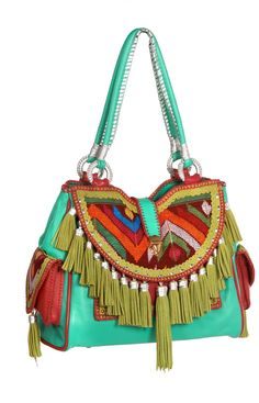 Freedom Bag - World Family Ibiza- that's a whole lotta look, but some of the design detail is nice