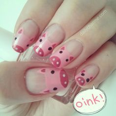 Great way to support the Flying Pig Marathon Love Nails, How To Do Nails, Pig Nails, Pink Day, Best Nail Polish, Flying Pig, Cute Nail Art, Cute Nail Designs, Nail Stickers