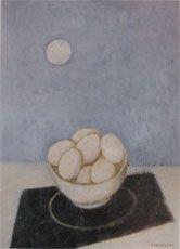 'bowl with eggs' by felice casorati Italian Painters, Italian Artist, Illustrations, Illustration Art, The Beginning Of Everything, Young Art, Italian Beauty, Painting Still Life, Kitchen Art