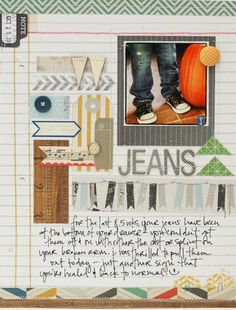 By Lisa Truesdell (gluestickgirl)  (I should do the opposite and scrap Max's hatred of jeans!)