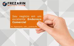 Precisando de um Endereço Comercial para abrir ou divulgar sua empresa? A Frezarin Escritório Virtual pode te ajudar.  Por apenas R$250,00 mensais sua empresa poderá estar no melhor edifício empresarial de Londrina.