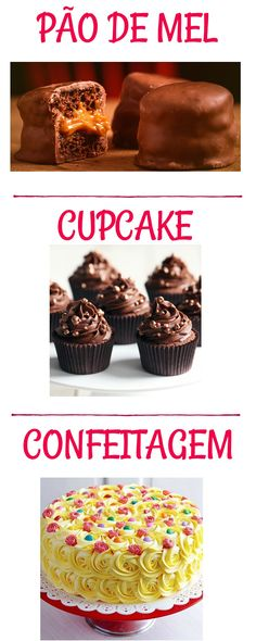 GUIA CONFE1 — Confeitaria OnLine Oficial Cupcake, Naked Cakes, Muffin, Breakfast, Desserts, Cook, Meals, Morning Coffee, Tailgate Desserts