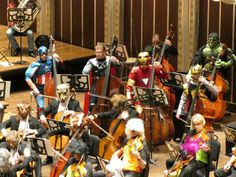 The Cleavland Orchestra dressed up for their annual Halloween Spooktacular show, and it looks like some of Earth's Mightiest Heroes dropped in to play strings.