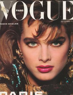 Brooke Shields, Patrick Demarchelier, september 1983 Ford models on the cover of Vogue Paris. Modeling Brooke was extraordinary. Isabelle Adjani, Vogue Magazine Covers, Fashion Magazine Cover, Vogue Covers, Fashion Cover, Brooke Shields, Catherine Deneuve, Brigitte Lacombe, Vogue Paris