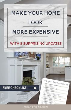 Do you wish your home was always clean, bright, and elegant? Do you want to  get the most money possible when you sell it? Sure you do. That's why I  have compiled this list of brilliant hacks that will turn your house into a  gorgeous home.   Learn 8 tips to make your home look more expensive - without extensive  renovations.