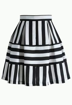 Playful Stripes A-line Skirt - Skirt - Bottoms - Retro, Indie and Unique Fashion Stripe Skirt, Pleated Skirt, Dress Skirt, Led Dress, Formal Skirt, Skirt Outfits, Unique Fashion, Fashion Fashion, A Line Skirts