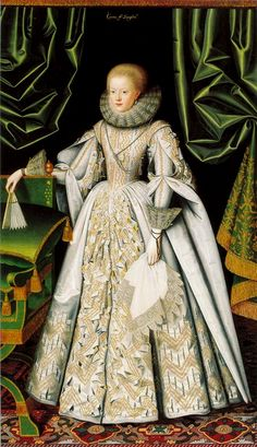 Lady Anne Cecil c 1615 г. larkin (plate 19 'A Visual History of Costume 17thC' Valerie Cumming)
