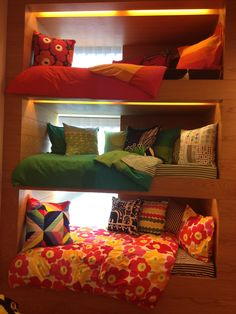 Space saving beds for the cabin? love the window in each of them...necessary for those that could be claustrophobes....