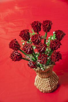 ~ Lego Mocs Holidays ~ For my Valentine Legos, Lego Flower, Lego Food, Lego Tree, Lego Wedding, Lego Wall, Lego Sculptures, Lego Animals, Lego Pictures