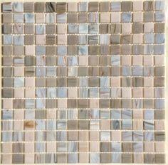 Mosaïque discount pâtes de verre gris rose marbré au m²- Mosaïque de pâte de verre mélange, 2 cm