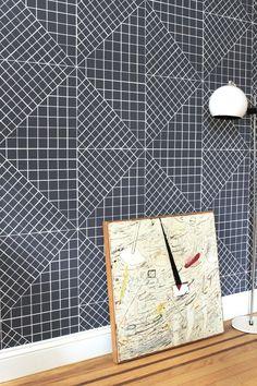 Inspiration for quilt blocks.  Moonish Wallpaper | Remodelista